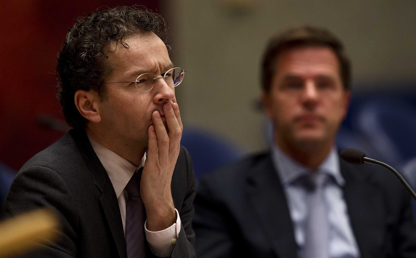 Minister van Financiën Jeroen Dijsselbloem en premier Mark Rutte