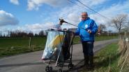 André (76) ruimt al twaalf jaar zwerfvuil op met omgebouwde kinderwagen