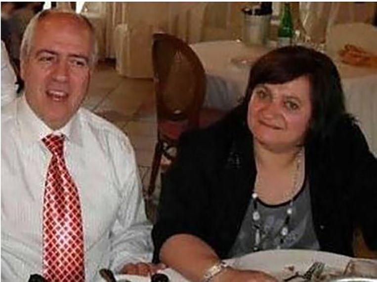 Paola Clemente met haar man, Stefano Arcuri.