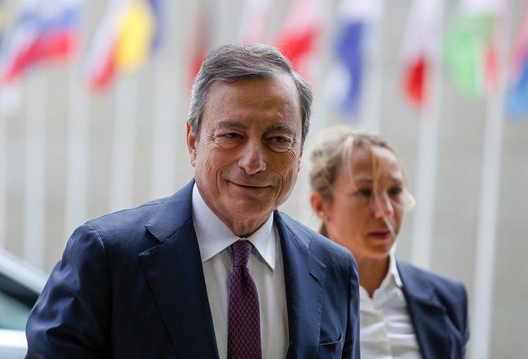 Mario Draghi, voorzitter van de  Europese Centrale Bank (ECB).