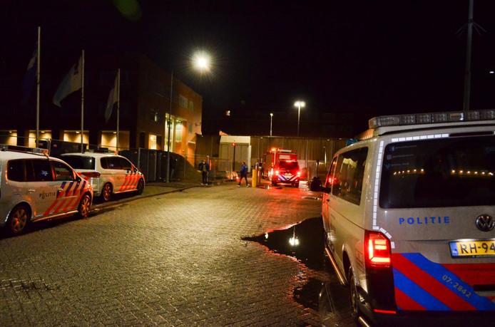 De brand woedde in een cel in de Dordtse gevangenis.