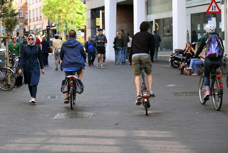 Het aantal fietsers zit in stijgende lijn in het centrum van Leuven.