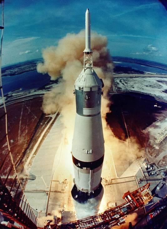 Lancering van de Apollo 11 in juli 1969