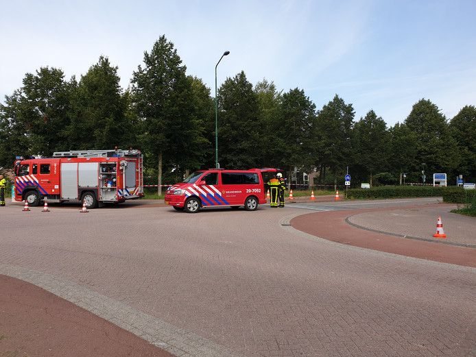 De brandweer is ter plaatse