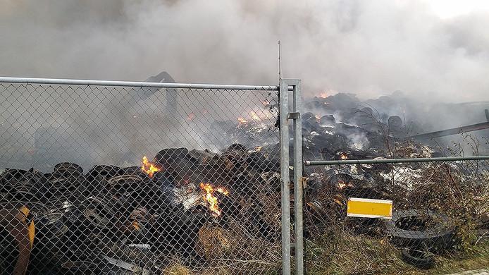 Maandag na het uitbreken van de brand