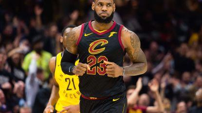 VIDEO: Hoofdrol voor James bij nipte zege Cleveland op Pacers