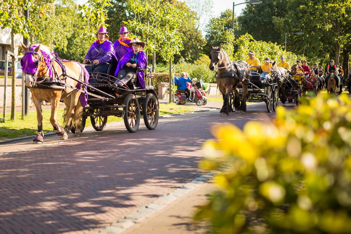 Een optocht van 250 paarden met ruiters en menners door de Huijbergse dorpskern vormde een aantal jaar geleden de grande finale van de Huijbergse Paarden3daagse.