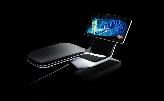 Het 3D-scherm van Dimenco wordt gepresenteerd op de autoshow in Frankfurt.
