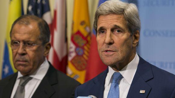Sergei Lavrov en John Kerry, de ministers van Buitenlandse Zaken van respectievelijk Rusland en de VS, ontmoetten elkaar gisteren.