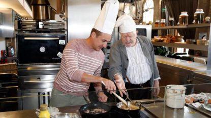 'Nonkel Jef' Ivo Pauwels en Andy Peelman dagen elkaar uit in de keuken en op de planken