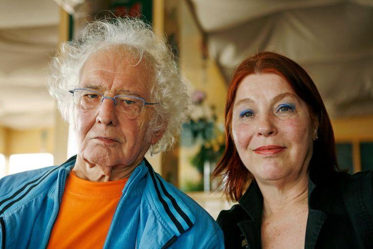 Jan Wolkers met zijn vrouw Karina, vijf maanden voor zijn dood. Beeld anp