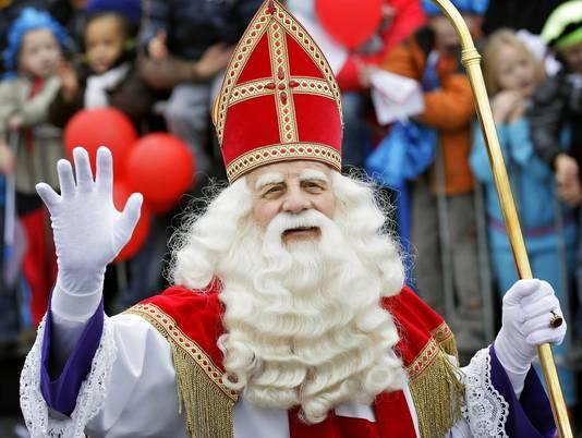 Sinterklaas (Bram van der Vlugt) tijdens de intocht in Almere in 2008.
