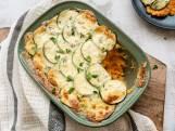 Wat Eten We Vandaag: Courgette-gratin met zoete-aardappelpuree