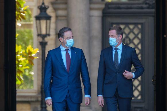Koninklijk opdrachthouders Paul Magnette (PS) en Bart De Wever (N-VA)