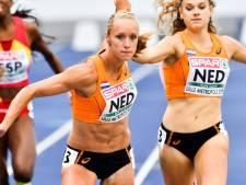 Eva Hovenkamp naast podium op 400meter bij NK