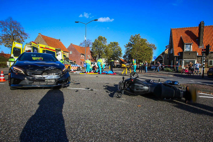 Ongeluk op de Wethouder van Wellaan in Helmond.