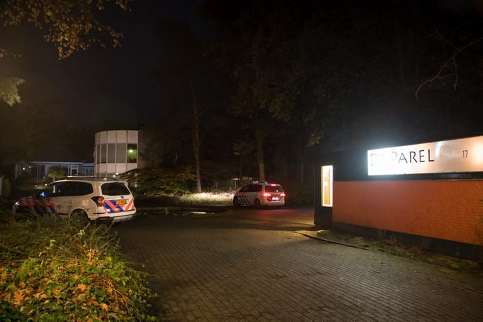De politie deed onderzoek op het bungalowpark.