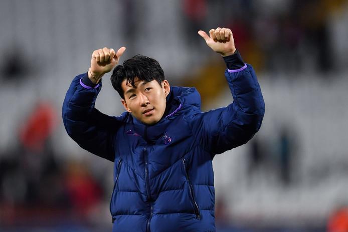 Heung-min Son na de wedstrijd.