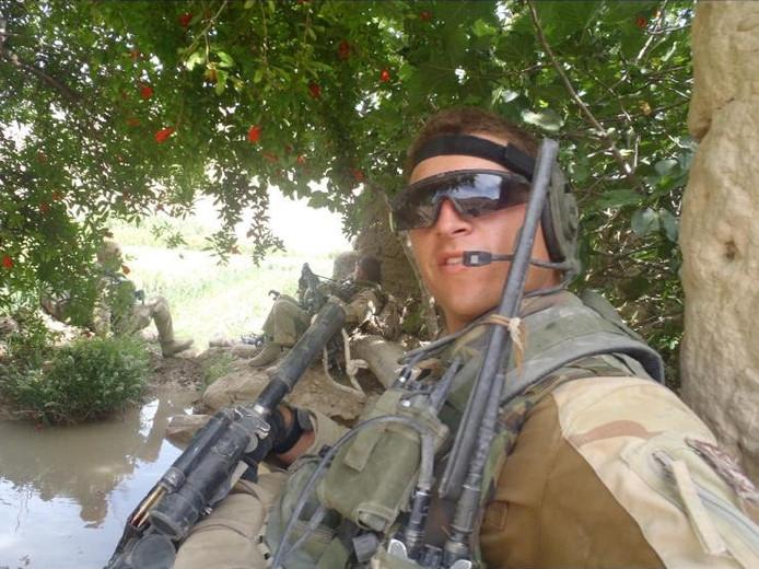 Marnix Landman tijdens een uitzending in Afghanistan