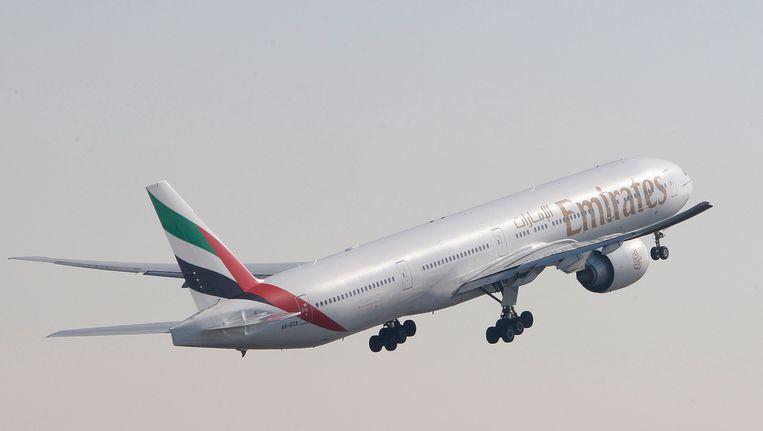 Een Boeing 777-300 van Emirates (archieffoto)