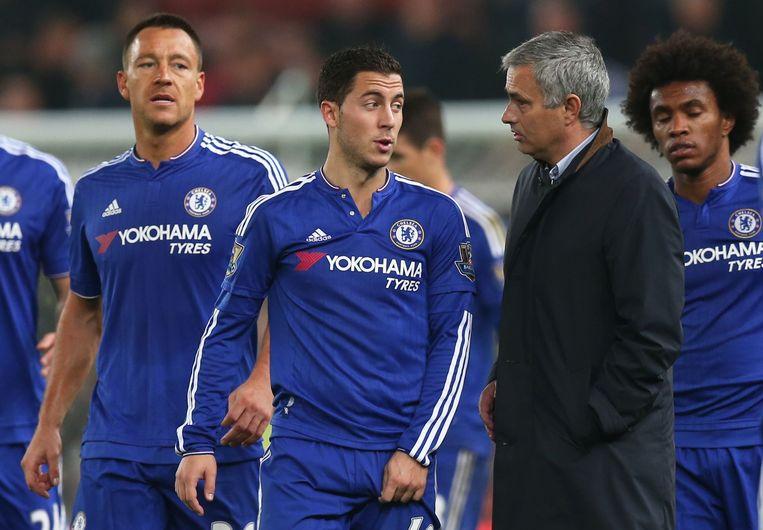 Hazard en Mourinho.