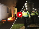 Protest rond Maagdenrotonde Apeldoorn na ingaan avondklok