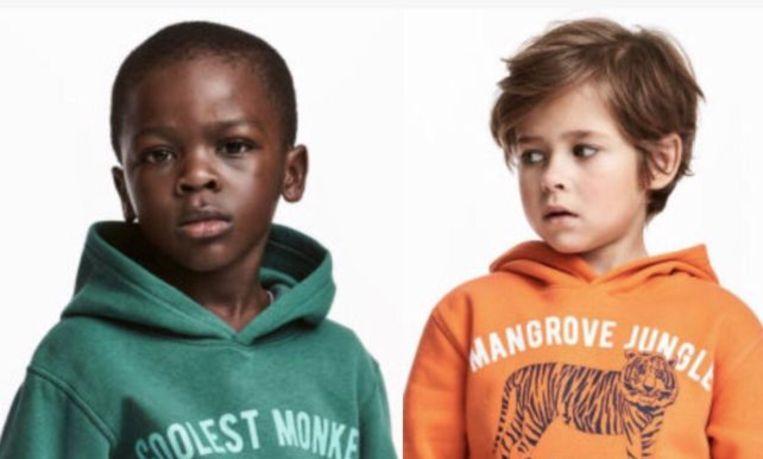 Liam poseerde op de webshop van H&M met een groene hoodie aan met daarop het opschrift 'Coolest monkey in the jungle'.