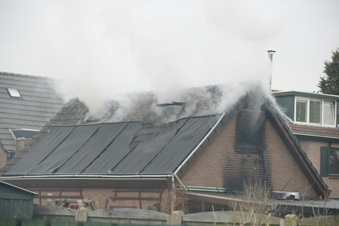 Brand in een woning in Putte.