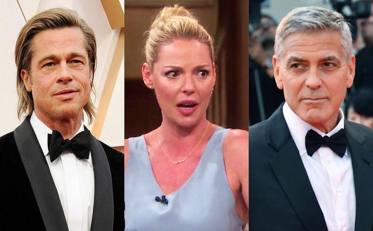 Brad Pitt, Katherine Heigl en George Clooney.