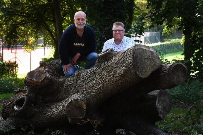 Mark Hofman (rechts) en regisseur Winfred van Buren.