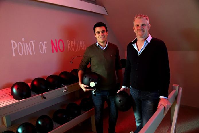 Manager Tom Hersbach en eigenaar Arno Schreuders van de Nox Room  in Dongen.
