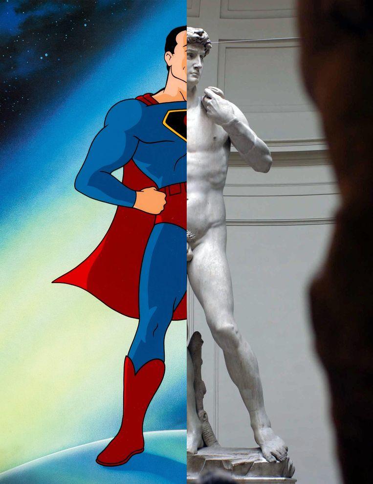 Michelangelo bekommerde zich niet om de etnische afkomst van de Joodse koning David. Het stripverhaal 'Superman' werd geschreven door Jerry Siegel en getekend door Joe Shuster, beiden Joods. Beeld Marco Bucco