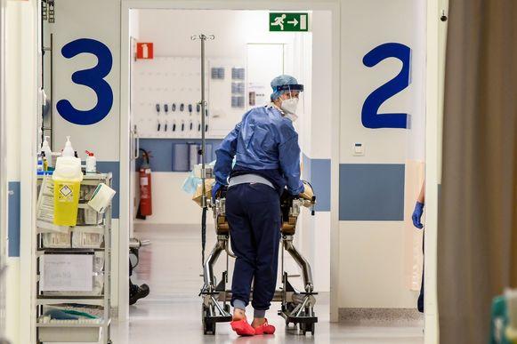 Een patiënt in het ziekenhuis