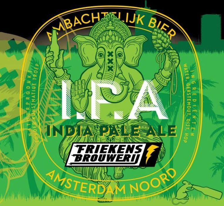Het etiket van het biertje. Beeld Friekens Brouwerij