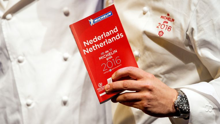 De Michelingids Nederland tijdens de presentatie van de nieuwe gids van 2016. Beeld anp