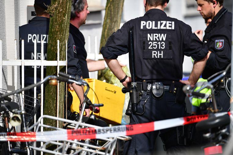 Zondag werd nog intensief onderzoek gedaan naar de aanslag in Münster. Beeld Getty Images