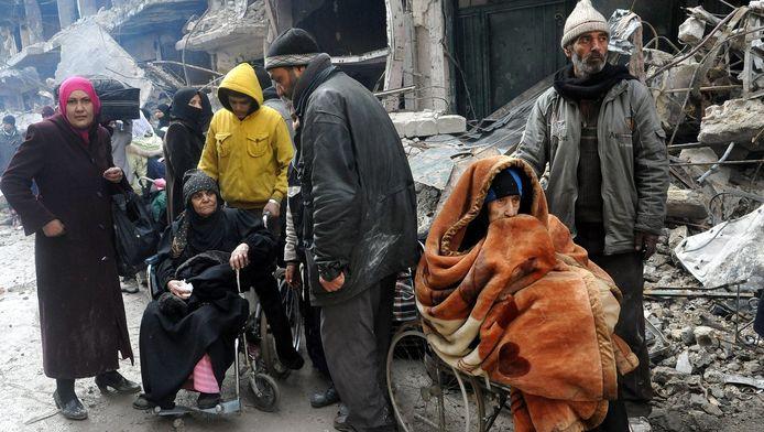 Bewoners van Yarmouk worden geëvacueerd.