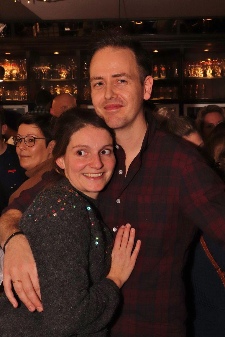 Tom Gabriëls en zijn echtgenote Karlien Driesen.