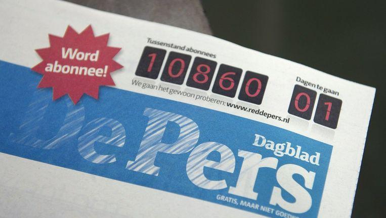 De laatste editie van De Pers is donderdag 29 maart van de pers gerold. Beeld null