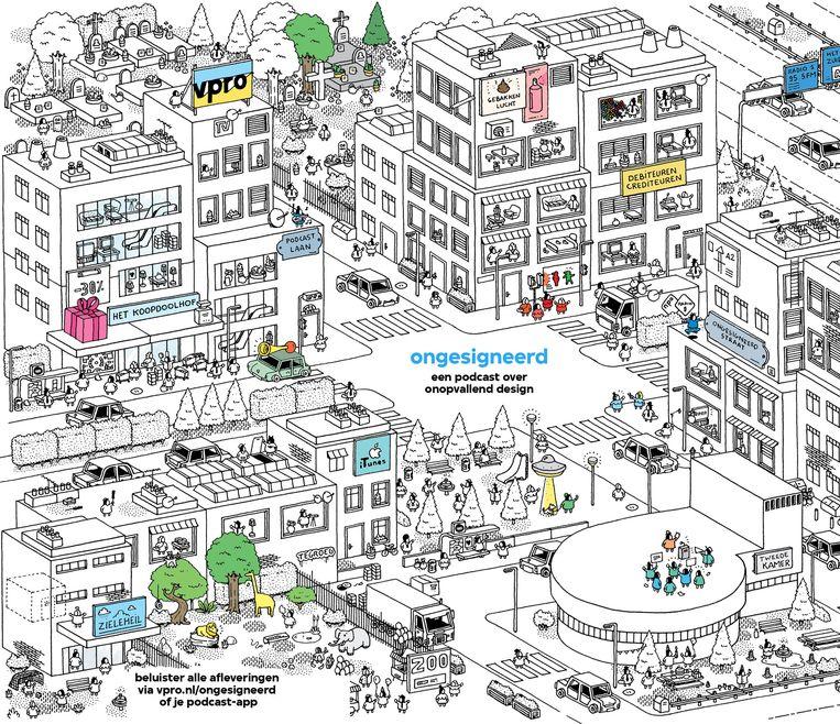 Op de website vpro.nl/ongesigneerd staat een kaart waarop de onderwerpen van afleveringen te zien zijn. Klik op de stoeptegel om erover te horen, al is de bezoeker wel verplicht akkoord te gaan met cookies. Beeld Sylvain Tegroeg