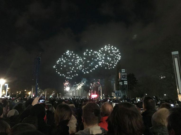 Vuurwerk boven Brussel.