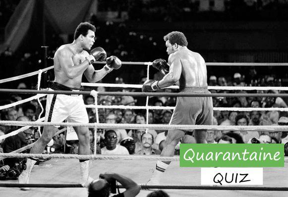 Ali en Foreman in hun wereldtitelkamp bij de zwaargewichten.