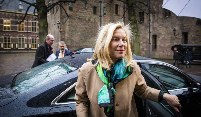 Minister Sigrid Kaag voor Buitenlandse Handel en Ontwikkelingssamenwerking (D66) bij aankomst op het Binnenhof voor de wekelijkse ministerraad op het Binnenhof.