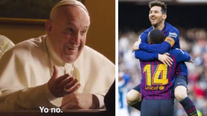 Is Lionel Messi God? Paus Franciscus heeft er zo zijn eigen mening over