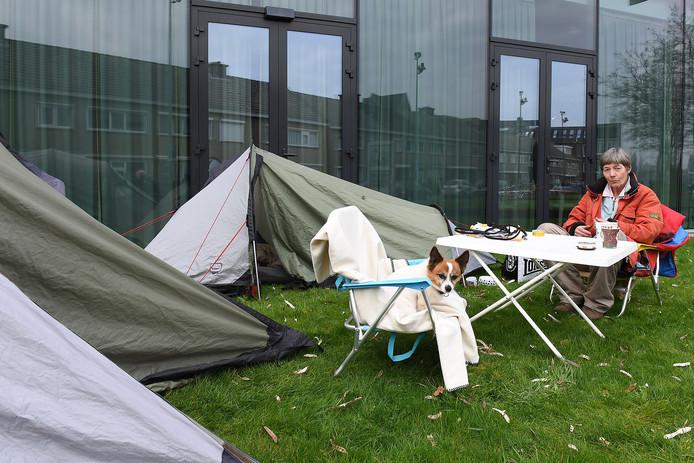 De tent bij Mooiland is inmiddels afgebroken.