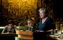 Helmi Huijbregts-Schiedon (VVD) aan het woord in de Eerste Kamer.