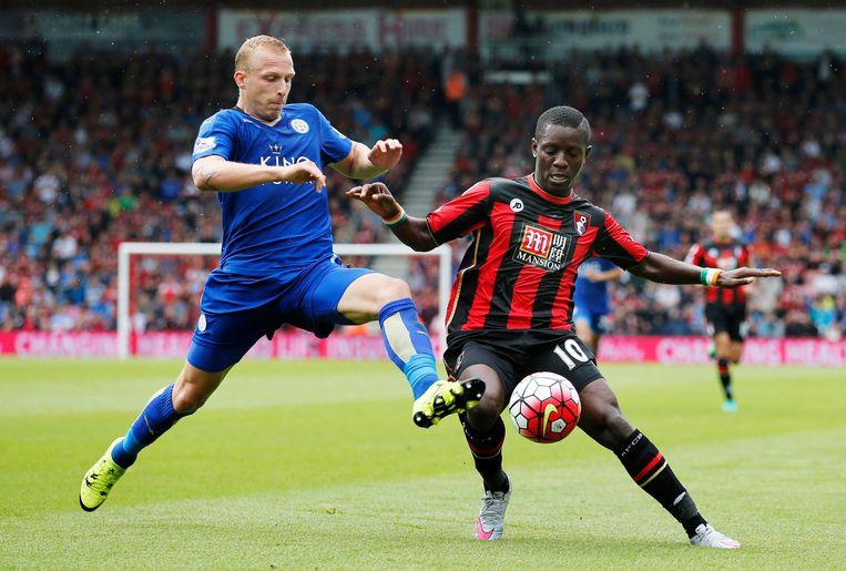 Ritchie De Laet in actie voor Leicester City.