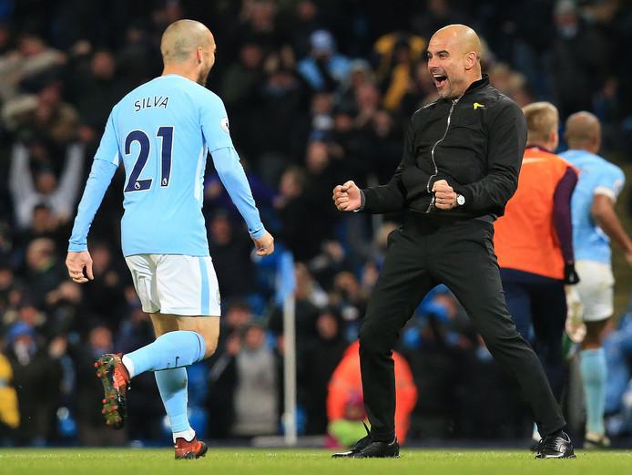 Silva op weg naar de open armen van Pep Guardiola.