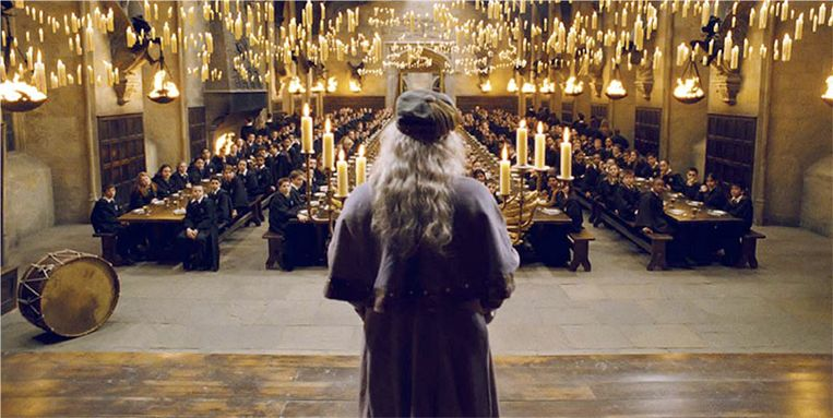 De Grote Zaal in de Harry Potterfilms.