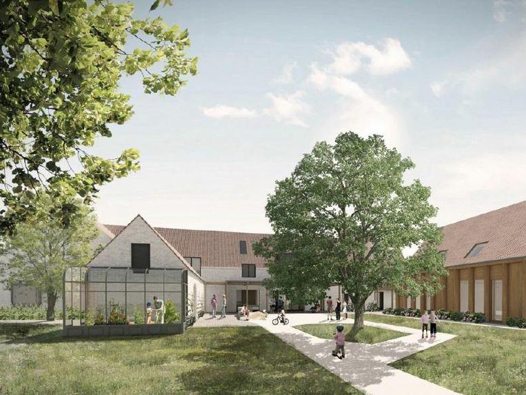 Zo moet het Boldershof er uitzien: met veel groen en veel speelruimte.